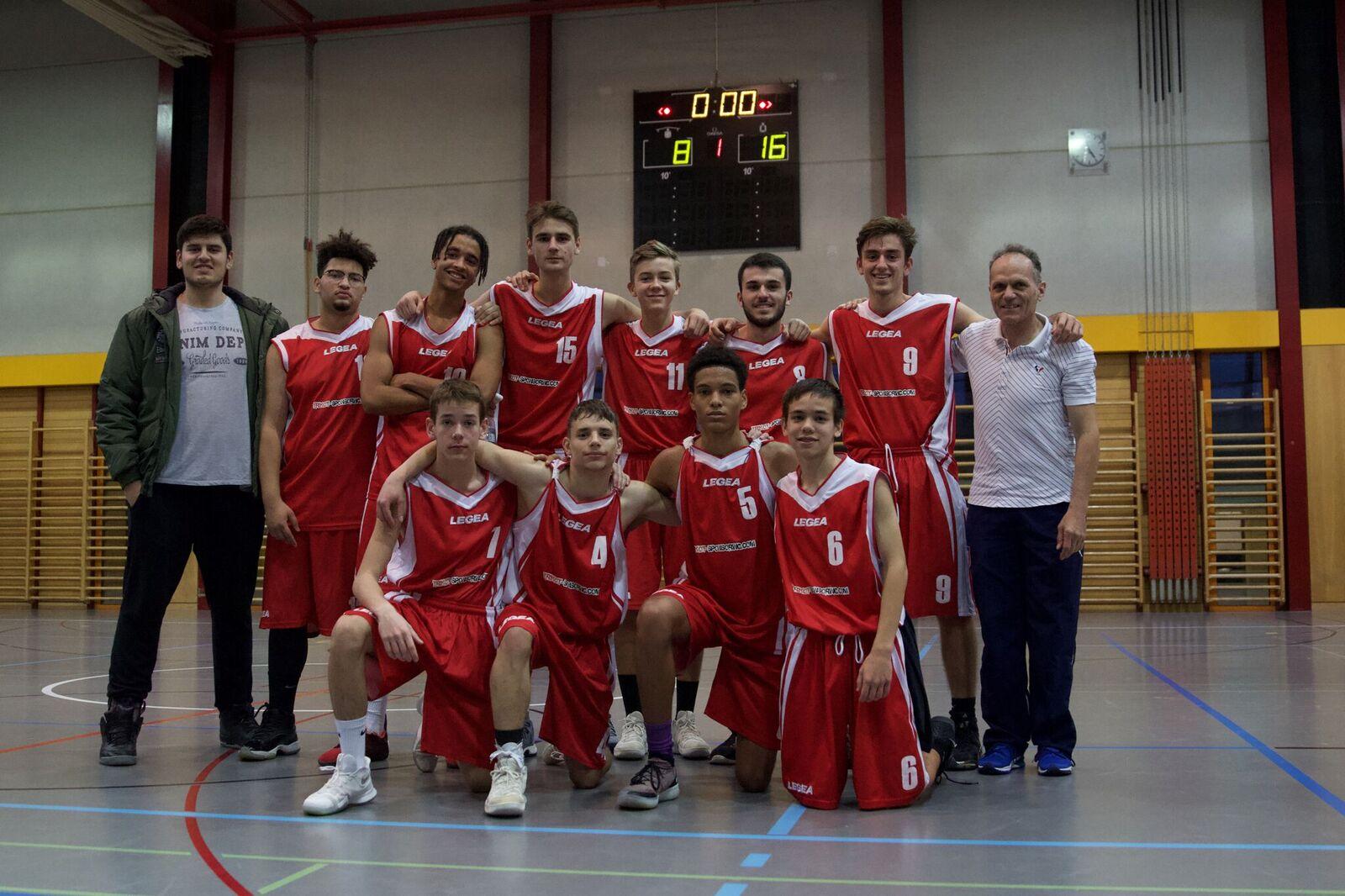 Das WG / WMS Herren-Basketballteam ist Mittelschulmeister beider Basel 2018